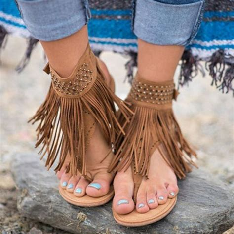 bohemian gladiator sandals top tier style