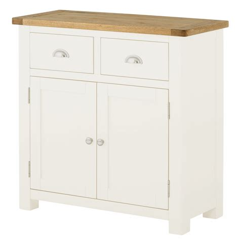 Small White Sideboard by Portland White Small Sideboard Fully Assembled Oak World