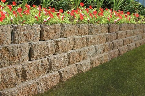 Garden Retaining Wall by Keystone Garden Wall 174 Landscape Retaining Wall Block