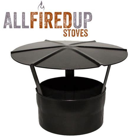 rain cap black multifuel vitreous enamelled flue pipe