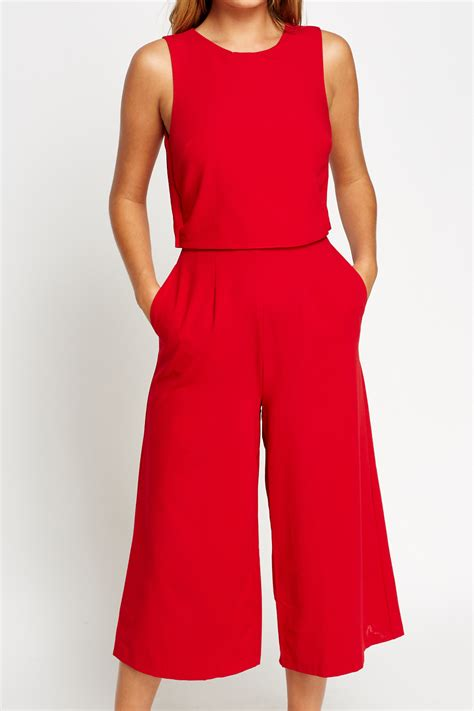 Cropped Jumpsuit overlay cropped jumpsuit just 163 5