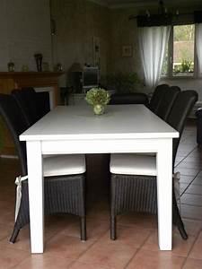 Table Blanche Salle A Manger : table salle manger blanche gilles martel ~ Teatrodelosmanantiales.com Idées de Décoration