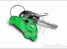 Car Keys With Car Icon Keyring Concept For Owning A