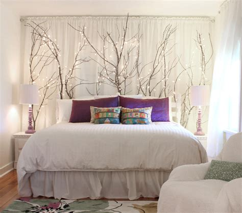 creating indoor woodsy whimsy with ceiling branches