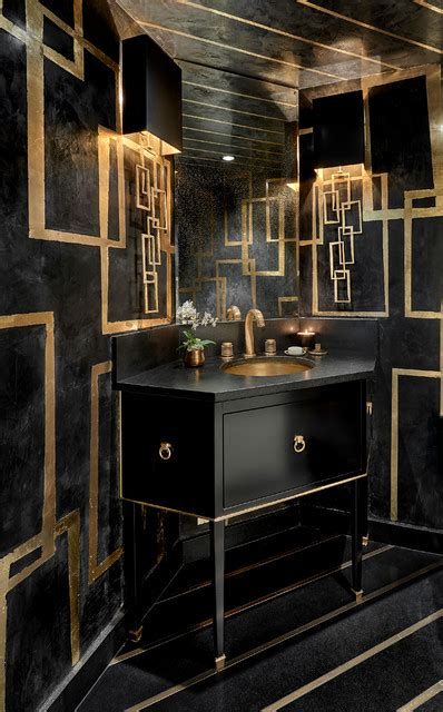 gold coast residence contemporary powder room