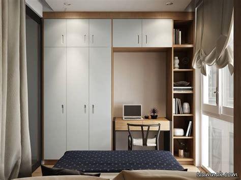 bedroom and kitchen designs دکوراسیون اتاق خواب کوچک با فضاسازی بزرگ تصاویر 4402