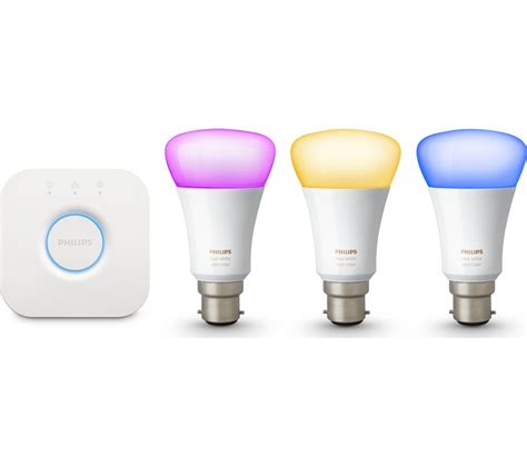 philips hue colour wireless bulbs starter kit b22 deals
