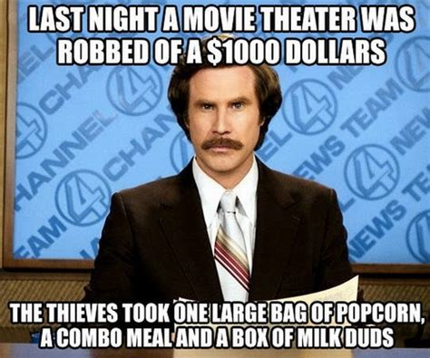 Funniest Meme In The World - movie theater was robbed of 1000 dollars