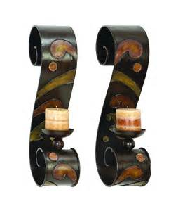 home interior candles home decor metal candle holder wall sconce interior design accent orange brown ebay