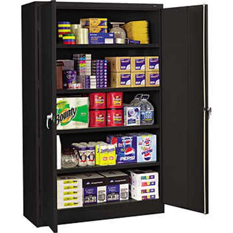 costco outdoor storage cabinet tennsco jumbo steel storage cabinet 48 quot w x 18 quot d x 78 quot h black