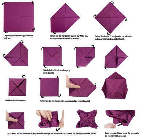 Servietten Falten Anleitung by Origami Seerose Anleitung My