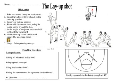 basketball lay  task sheet  rah teaching