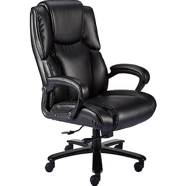desk chairs staples staples glenvar bonded leather big and chair staples 174