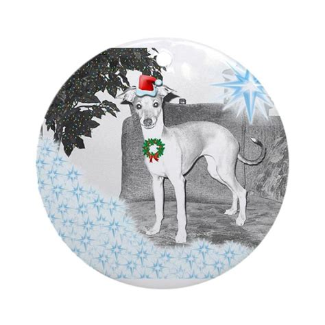 italian greyhound christmas ornament round by eangifts