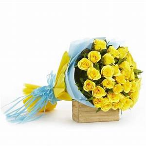 Yellow Rose Flower Bouquet   Buy Gifts Online