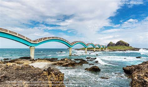 Sanxiantai Island and the Taiwan East Coast. Taitung ...