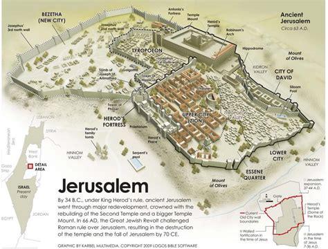 ancient jerusalem map map  ancient jerusalem israel