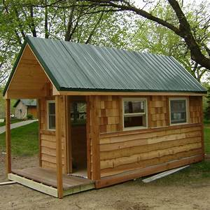 Small Cabins Tiny Houses Tiny House On Wheels, green cabin ...