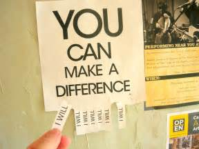 How Can You Make a Difference