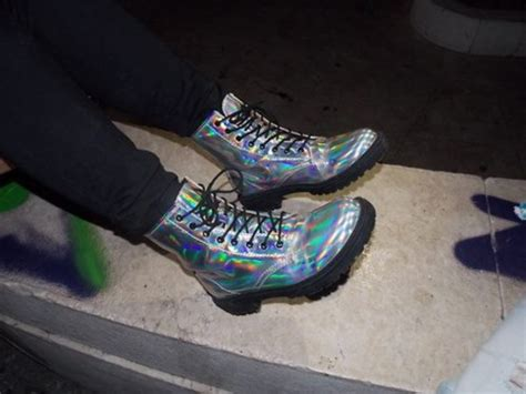 Boots, Holographic Boots, Holographic, Holographic
