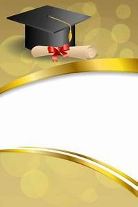 Graduation Cap With Diploma And Golden Abstract Background