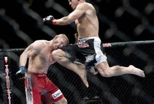 MMA Flying Knee Knockout