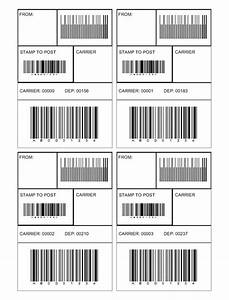 Create custom logo barcode label template for Barcode label template word