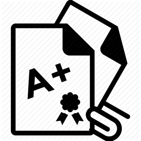 Library of report card clip art royalty free stock black ...