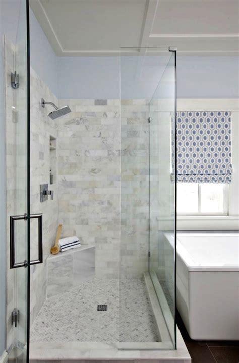 marble subway tile bathroom polished shower tiles transitional bathroom