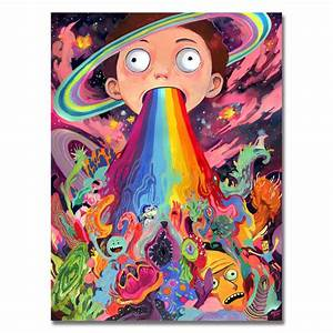 2017 Hot Rick And Morty Art Silk Poster Or Canvas Poster