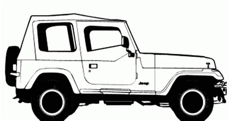 cartoon jeep wrangler free p wrangler coloring pages