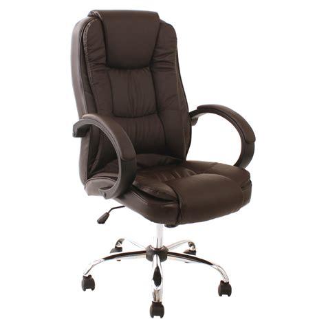santana brown high back executive office chair leather