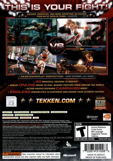 tekken 6 xbox 360 cheats tekken 6 box for xbox 360 gamefaqs