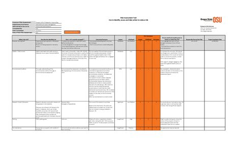 risk management spreadsheet template db excelcom
