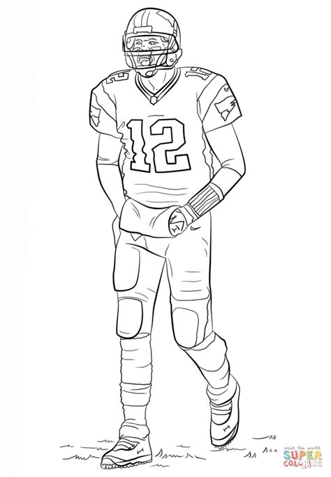 tom brady coloring page  printable coloring pages