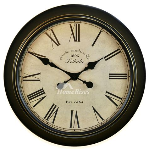 kitchen wall clocks  hanging   metal silent