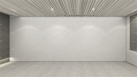 modern empty room  render interior design mock