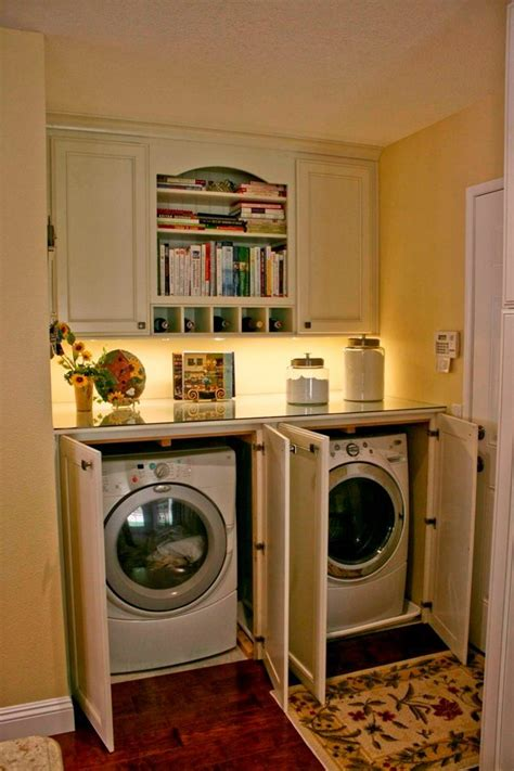 hide washer and dryer in kitchen nice white kitchens