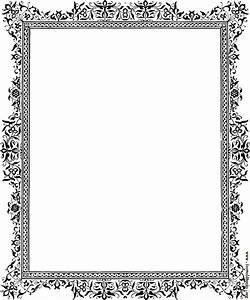 Decorative clip-art Victorian border, Black and White  Border