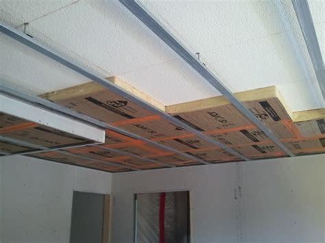isolation faux plafond maison travaux