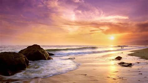 atardecer en la playa  hd fondoswikicom