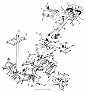 Mtd 215-410-000  1995  Parts Diagram For Rear Tine Tiller