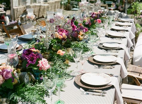 garden table setting ideas tea time styled wedding shoot featuring monique lhuillier onewed com