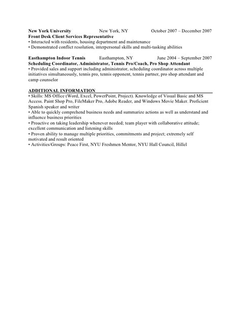 resume nyu graduate economics business