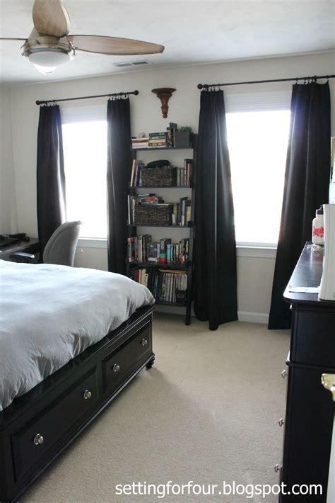 teenage boys bedroom setting