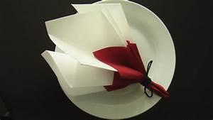 Serviette De Noel En Papier : pliage de serviettes en papier pour noel 3 pliage serviette tutos conseils astuces survl com ~ Teatrodelosmanantiales.com Idées de Décoration