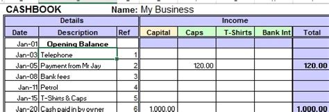 cashbook template nz excel cashbook for easy bookkeeping
