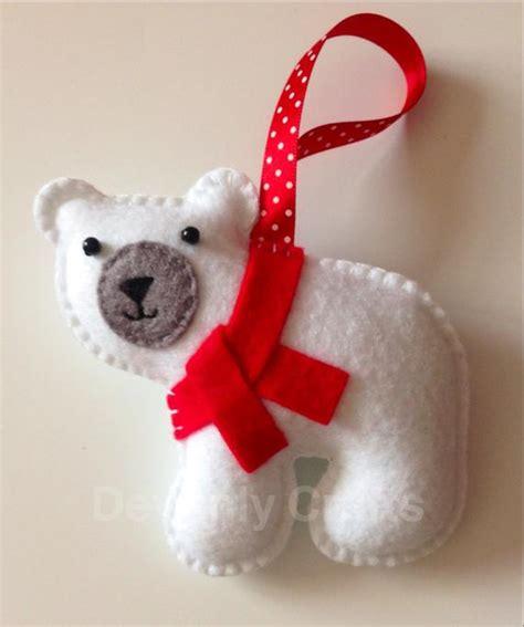 Items Similar To Hand Stitched Felt Polar Bear Christmas