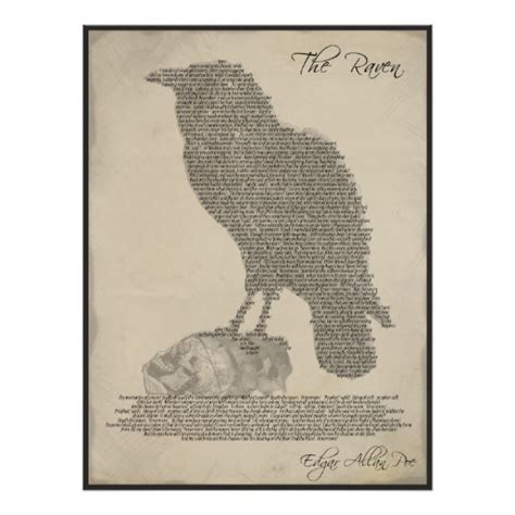 the raven poem literature typography poster zazzle