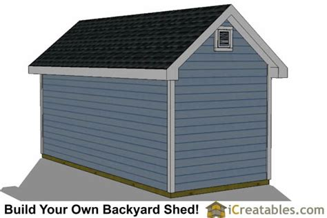 8x16 Shed Home Depot by 8x16 Traditional Backyard Shed Plans